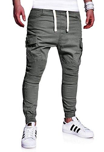 MT Styles stile Biker Sportivi-Jeans Pantaloni Uomo RJ-2276 [darkgrey, W36]