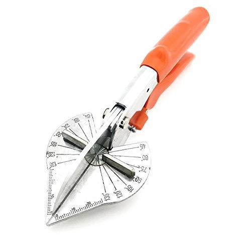 Tijeras de inglete JK, cortador de ingletes multiángulo, tijera de junta, herramientas de corte de tijera de mano 45 – 135 ° para fontaneros, electricistas y carpinteros