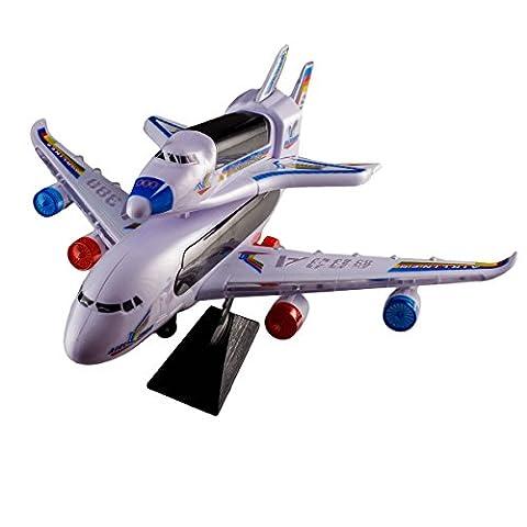 Jouet électronique pour enfant - Avion et fusée avec effets de lumière et de son - Jeu parfait pour les fans d'aéronautique - Cadeau idéal pour Noel, un anniversaire ou toute autre occasion