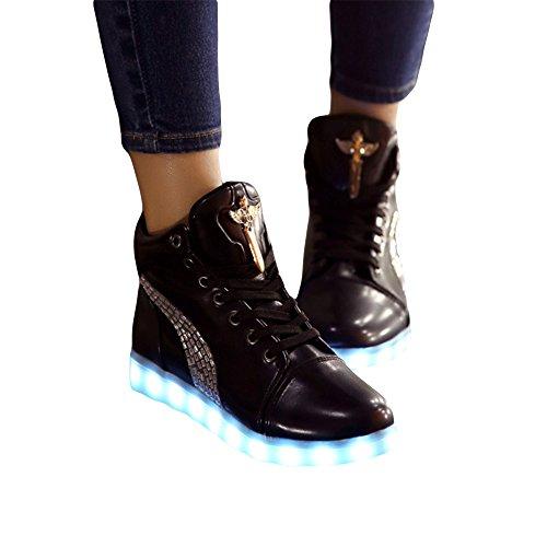 De Brilhante Crescentes Moda Inserido Cores Xianv Preto Sapatos Couro Um Translúcido 2017 Top 8 High vFqUzxI