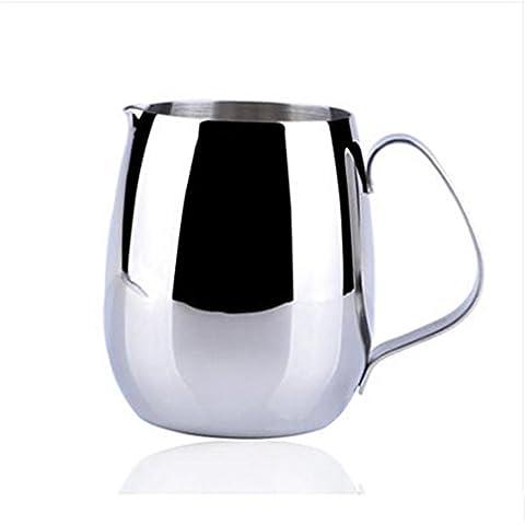TBQING tazza di ghirlanda di becco a forma di tamburo d'acciaio inossidabile 350ml di fantasia tazza di caffè tazza di schiuma di caffè con latte .