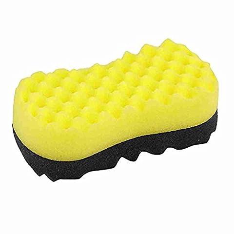 Move&Moving(TM) Auto Black Yellow Bone Shape Wax Buffing Polishing Sponge Pad Cleaner
