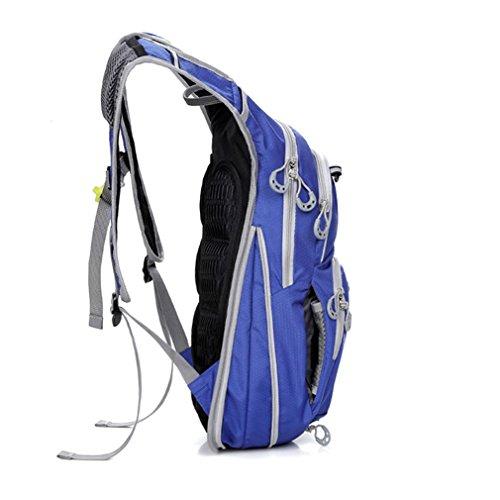 Life-time 12L Frauen und Männer Leichter Wasserdichter Sport-Rucksack für Wandern, Reisen, Radfahren, Jogging, MTB, Klettern Blau