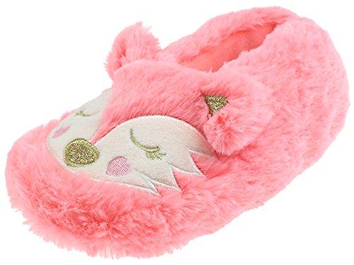 Capelli New York Girls Kitty Cat Moccasin Slipper