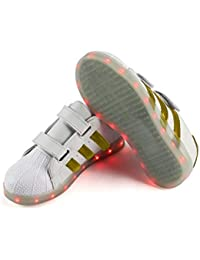 Unisex LED Luminous Shoes Moda Casual Intermitente USB Recargable Sneakers Low-Cut Zapatos para Niños Niñas Niños