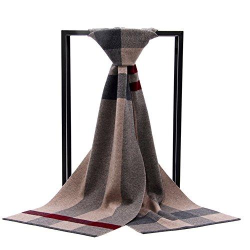 écharpe de Plaid pour hommes/Épais chaud long foulard/ écharpe en laine sauvage étudiant A