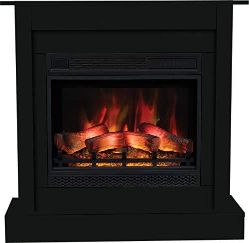 Chimenea eléctrica VIGO negro, chimeneas de pie, chimeneas eléctricas, efecto de llama...