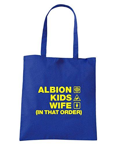 T-Shirtshock - Borsa Shopping WC1257 burton-albion-kids-wife-order-tshirt design Blu Royal