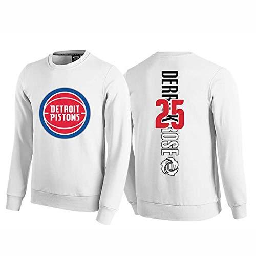 # 25 kolben Derrick Rose Basketball Langarm Jersey Pullover Trainingsanzug männer Jungen Casual Wettbewerb sportbekleidung Sport top s-3xlBetreten Sie den Laden mehr-White-XXL