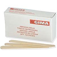 Gima 25509abbassalingua de madera, madera claro, paquete de 100