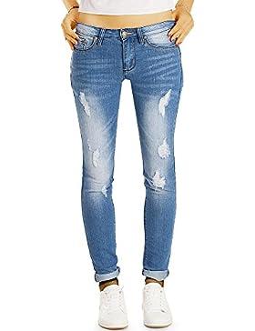 Bestyledberlin pantalones jeans de mujer tubo, jeans slim j51i