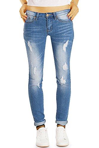 Jeans Frauen Enge Für (Bestyledberlin Damen Skinny Fit Röhrenjeans, Enge Destroyed Style Skinnyjeans, Zerrissene stretchige Jeans j51i 40/L)