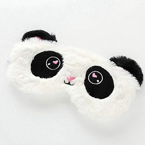 dfgjdryt Lustige Tier-Augenmaske/Schlafmaske, niedliche Verdunkelung, weiche Flauschige Reise-Augenmaske für Kinder, Männer, Frauen für Zuhause, Dekoration - Black and White Panda