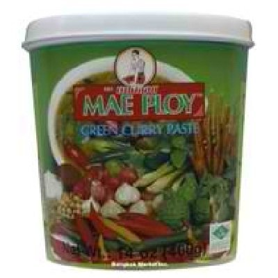 Thai Green curry paste (400g by Mae Ploy) width=