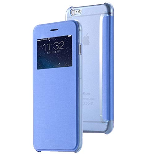 Roar Handy Hülle für HTC One M9, Handyhülle Blau, Tasche Handytasche Schutzhülle Flipcase, Slim Design mit Fenster