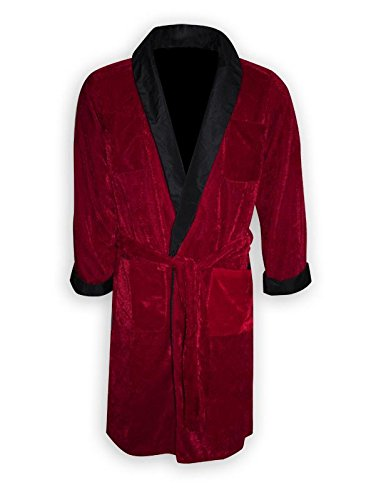 Kostüm Hefner - Playboy Smoking Jacke/Kostüm Hugh HEFNER mit Gürtel & Pfeiffe (L)