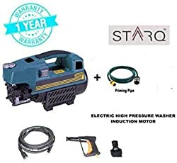 STARQ High Pressure Washer Cleaner W2 1600 Watts/100bar Induction Type,auto Stop/Start Copper Winding