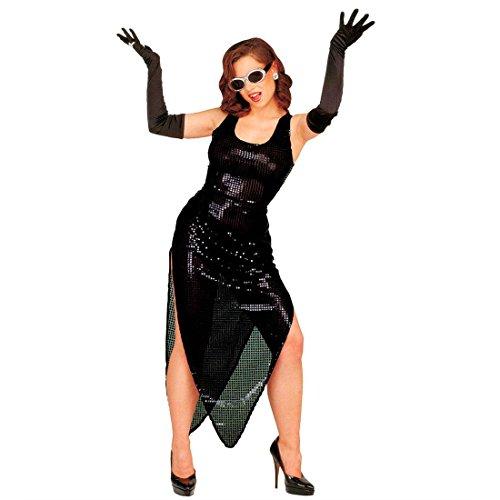 Lange Handschuhe schwarz 20er Jahre Damenhandschuhe Charleston Stoffhandschuhe Fasching Vampirin Hexe Handschuh Paar Halloween Abendkleid Brauthandschuhe Gothic Mottoparty Accessoire Karneval Kostüm Zubehör