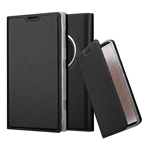 Cadorabo Custodia Libro per Nokia Lumia 1020 in Classy Nero – con Vani di Carte, Funzione Stand e Chiusura Magnetica – Portafoglio Cover Case Wallet Book Etui Protezione