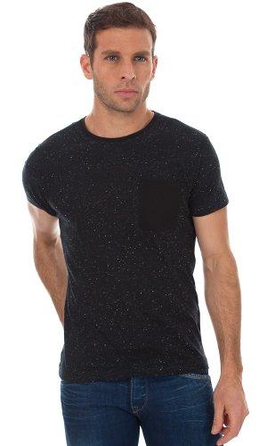 JACK & JONES Herren T-Shirt 12063358 blu (dark navy (slim fit nap yarn))