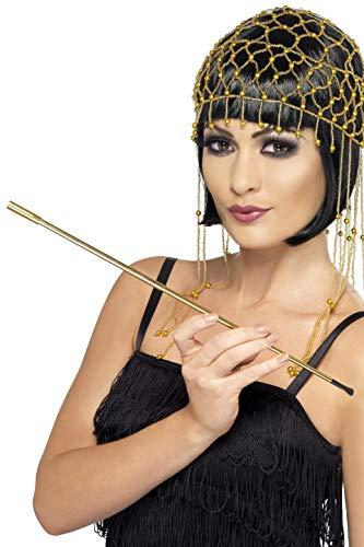 De Cruella Kostüm Adult Vil - Smiffys Damen Zigarettenhalter, One Size, Gold, 23968