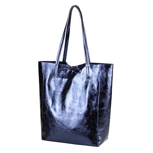 OBC Only-Beautiful-Couture, Borsa tote donna Blu blu metallizzato ca.: 36x40x12 cm (BxHxT) metallizzato