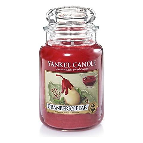 Yankee Candle 1305818 Bougie Parfumée en Pot Senteur Poire Rouge
