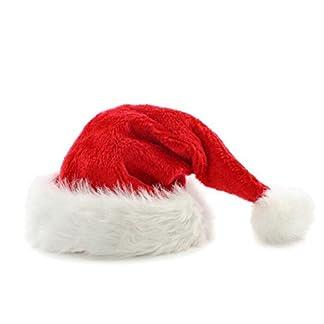 Fablcrew Gorro de Papá Noel Gorro de Papá Noel Fiesta de Navidad Unisex Adulto Xmas Red Cap Talla única Rojo