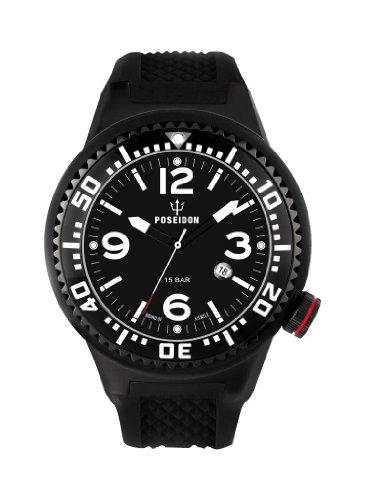 Kienzle Herren-Armbanduhr POSEIDON XL Black Pro Analog Silikon K2021173113-00257