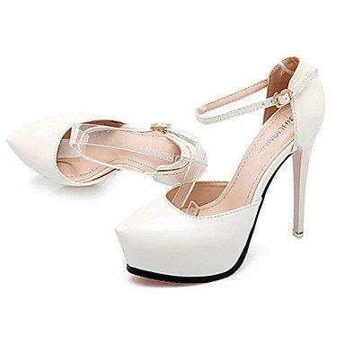 Moda Donna Sandali Sexy donna caduta tacchi Comfort PU Casual Stiletto Heel fibbia nero / rosa / rosso / bianco / grigio altri Pink