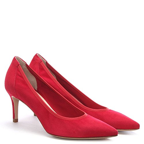 Daniel aloise Red Suede Court Shoes Red Suede