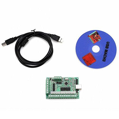 Tarjeta controladora de interfaz USB, tarjeta de controlador de movimiento  CNC MACH3 Tarjeta de módulo de programa para grabado Fresadora
