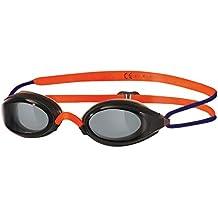 Zoggs Fusion Air Gafas de natación para niños, color negro/naranja/gris