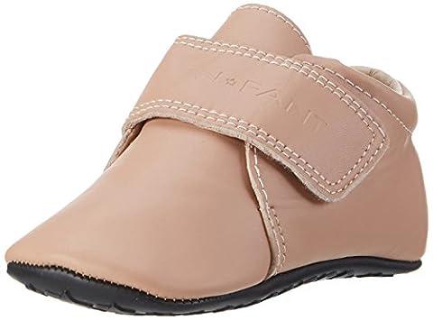 EnFant bébé fille, chaussures souples / chaussons à scratch, cuir, rose blush, 815140-55