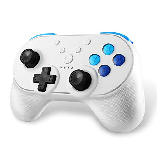 Yocktec Wireless Controller für Nintendo Switch, [NFC-Funktion] [Amiibo-Unterstützung] [HD Rumble Turbo] [Dual Vibration] Bluetooth Controller Gamepad Joystick für Nintendo Switch - Dual-stationär