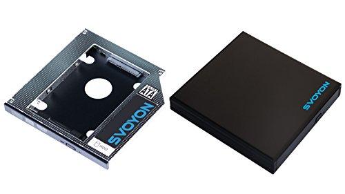 Premium SATA3 Adapter Kit für Slim (12.7mm) Notebook Laufwerke mit SATA Anschluss besteht aus 1x SSD/HDD Festplatten Adapter und 1x externes USB 3.0 Blu-ray/DVD/CD Laufwerksgehäuse