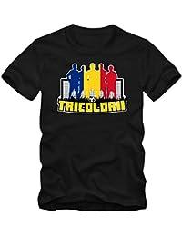 Shirt Happenz Rumänien WM 2018#7 T-Shirt | Fußball | Herren | Trikot | Tricolorii | Nationalmannschaft