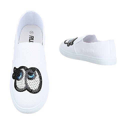 Ital-Design - Pantofole Donna Weiß FC-V205