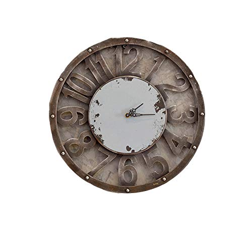 BGGZXX Reloj de Pared Vintage Montado en la Pared Tipo Hueco Decoración de Pared, Creativo Adecuado para Habitación Cocina de casa Grande,Gray,50cmindiameter