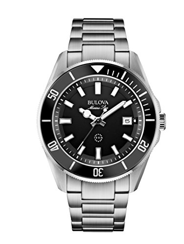bulova-mens-designer-watch-stainless-steel-bracelet-water-resistant-black-dial-marine-star-98b203