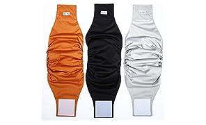 Katze-Tatze Couches de Chien Extra Confort Protection de Luxe Couches de Lavables et Réutilisables pour Chiens Mâle Paquet de 3 (L)