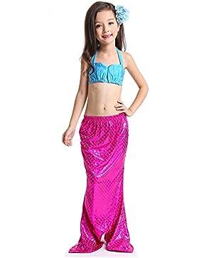 Jysport - disfraz para niña de la Sirenita, para la piscina, playa, blue+red