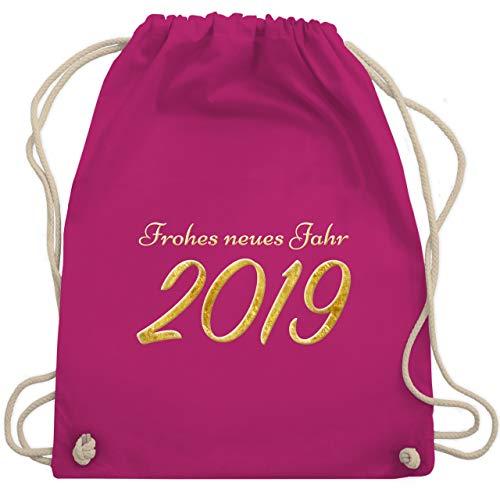 Weihnachten & Silvester - Happy New Year 2019 Gold Silvester - Unisize - Fuchsia - WM110 - Turnbeutel & Gym Bag