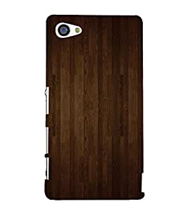 99Sublimation Dark Brown wood Stripes Background 3D Hard Polycarbonate Back Case Cover for Sony Xperia Z5 Premium/ Premium Dual