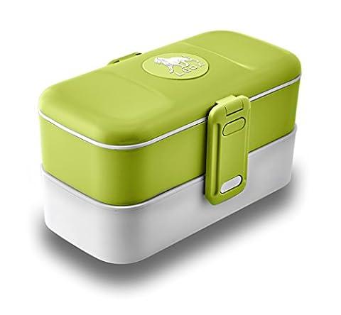 LEOX Lunch Box Bento Box Lunchbox Boîte avec couverts inox