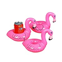 Wangc 3PCS Creative Flamingo Inflatable Floating Toys Pool for Drinks-Pink