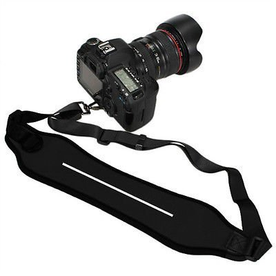 SUPER Heavy Duty DSLR Shock-Absorbing Quick Sling Neoprene Wide Neck Shoulder Single Camera Shoulder Strap Belt Strap Neck Strap for Canon Sony Nikon Panasonic Olympus Cameras (with screw)