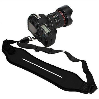 SUPER Heavy Duty DSLR Shock-Absorbing Quick Sling Neoprene Wide Neck Shoulder Single Camera Shoulder Strap Belt Strap Neck Strap for Canon Sony Nikon Panasonic Olympus Cameras (with screw)