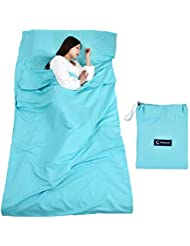 Saco de dormir con bolsa de transporte Ideal para albergues de interior refugios de montaña albergues