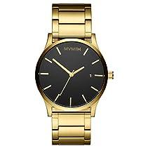 MVMT Herren Watch Uhr Black/Gold gebürstetes Edelstahl Armband MM01BG